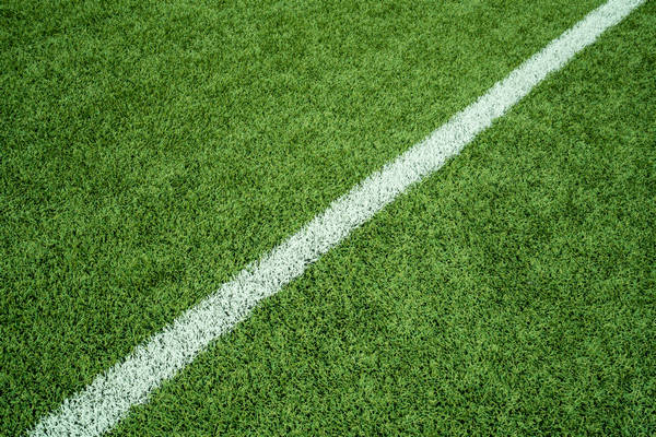 Turf with boundary line