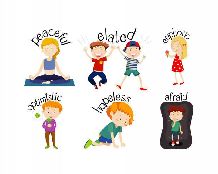 children with emotion words