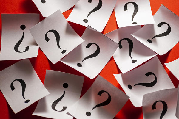 scattered question marks