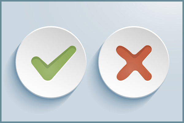 yes-no checkboxes